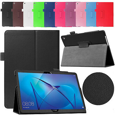 Leather Folio Protective Slim Case Stand Cover For Huawei Mediapad T3 10 2017 UK