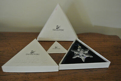 Swarovski 2000 Annual Christmas Snowflake / Star Ornament Never Opened