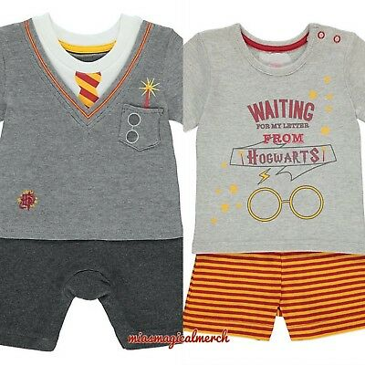 Brand New George Baby Boy's Harry Potter Clothing Romper Short Set 2 To Choose
