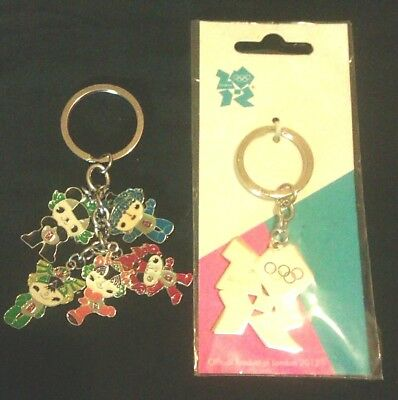 Official OLYMPIC GAMES Keyrings-2012 LONDON & 2008 BEIJING.1 MINT IN PACK