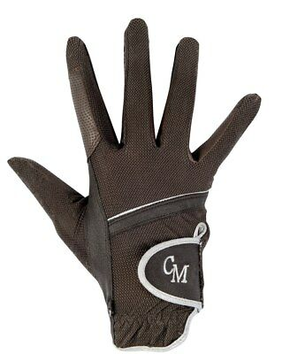 Mesh Riding Gloves -Soft Powder- Choc