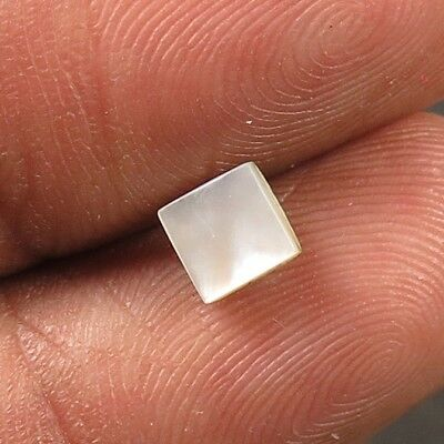 Charming 100% Natural MOTHER OF PEARL 5x5 mm Square Flat Rare Gemstone 0.60 Cts