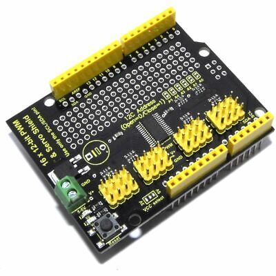 Keyestudio 16 Ch 12 Bit PWM LED Servo Shield KS0258 I2C PCA9685 Flux Workshop