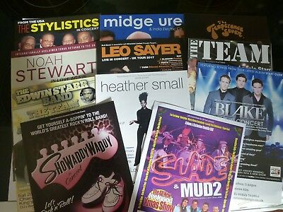 Assorted Music Flyers...Blake...Small..Stewart...Ure..Showaddywaddy..& others