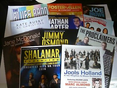 Assorted Music Flyers...Holland...Rusby..Carter...Brown..Showaddywaddy..& others