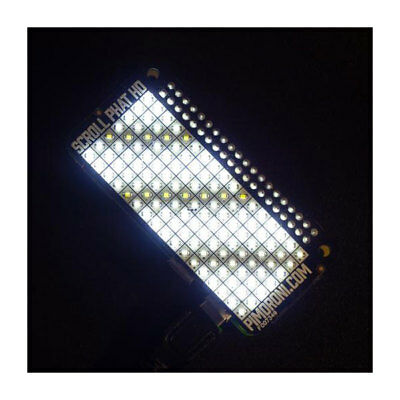 Pimoroni PIM268 Scroll pHAT HD White 119 LED Array for Raspberry Pi