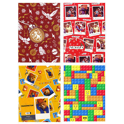 Official Gift Wrap 2 Sheets & 2 Tags Wrapping Paper Disney Marvel Lego DC Comics