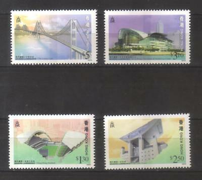 9976-Hong Kong, British Colonies – complete set MNH ** Michel 815-818 A – buildi
