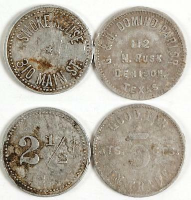 Two Denison, Texas Tokens Lot 3374