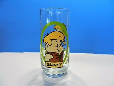 Vintage Pizza Hut Flintstones Barney Collectors Glass - 1986