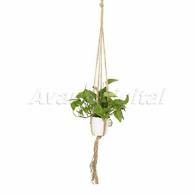 Vintage Macrame Plant Hanger Home Garden Macrame Pot Holder Hanging Rope Basket