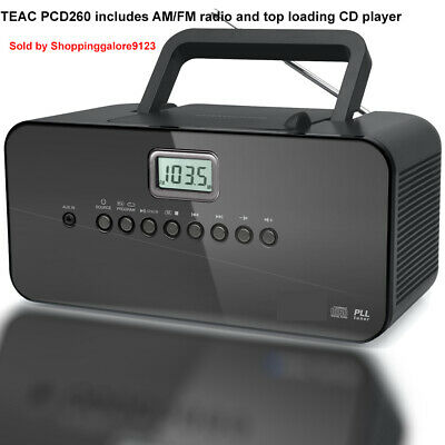 TEAC Portable Audio Boombox CD Player AM FM radio AUX AC DC MP3 Stereo Speaker