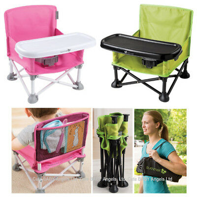 Pop N Sit Baby Feeding Booster Foldable Toddler Travel High Seat  Activity Chair