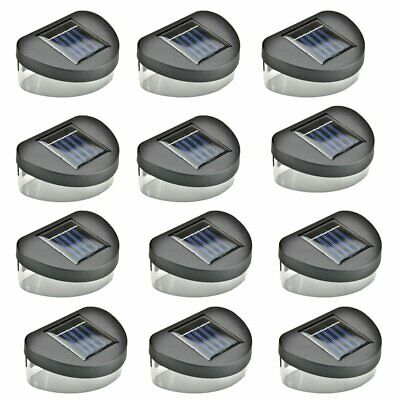 12 x SOLAR POWER LED GARDEN FENCE LIGHTS WALL PATIO OUTDOOR SECURITY LAMPS
