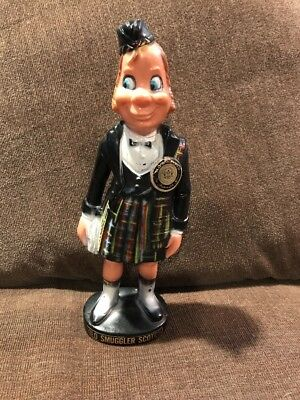 Old Smugglers Blended Scotch Whisky Vintage Bar Statue 1950's Nice Cond 10.5""
