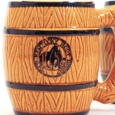 "Pair of Vintage OLD KENTUCKY ROOT BEER Barrel Mugs ""Made in Japan"""