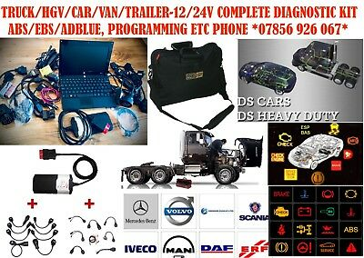 Truck Hgv Universal Diagnostic Bluetooth Kit 16 Cable Set! Daf/scania/iveco&more