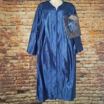 BLUE GRADUATION GOWN Herff Jones Size 5\'9\