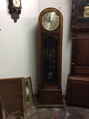 Art Deco longcase (grandfather)8 day clock Enfield 1930 Westminster ch deliv ops
