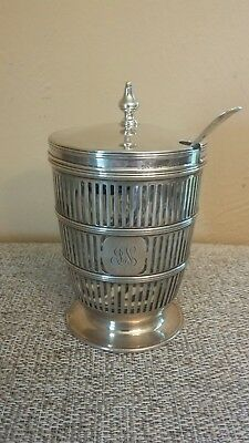 Made For Tiffany & Co. Sterling Silver JELLY JAR w/ Glass Liner 2122 105g
