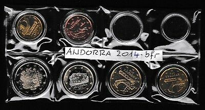 ANDORRA 2014: KMS von 5 Ct.  - 2 € - not circulated / bfr         (ohne 1+2 Ct.)