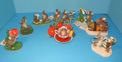 Charming Tails LOT OF 7 Includes Special Edition, Artist Signed, Christmas