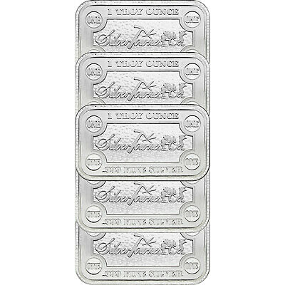 SilverTowne Money Bars 1oz .999 Silver Bar 5pc