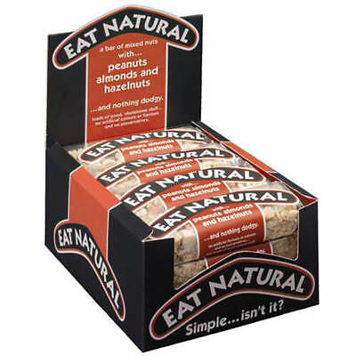 Eat Natural Energy Bar made from Peanuts Hazelnuts and Almonds 50g Pack 12