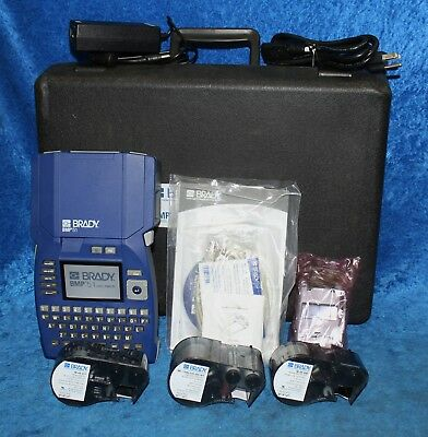 Brady BMP51 Portable Monochrome Thermal Transfer Label Printer With Case
