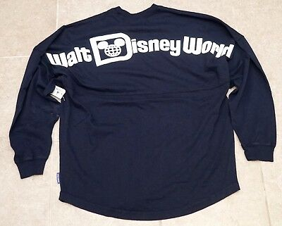 New Walt Disney World Parks WDW Navy Blue Spirit Jersey Tee Long Sleeve S-2XL