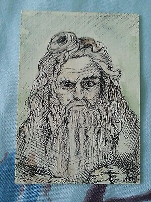 Radagast Lord Of The Rings The Hobbit Original Art Sketch Card Aceo Psc
