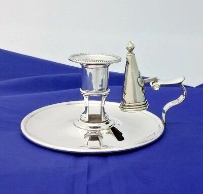 Antique Silver Plate Chamberstick with Snuffer by James Dixon & Sons c. 1870's