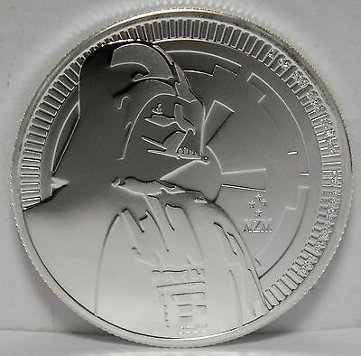 Darth Vader 2017 Star Wars .999 Silver Coin $2 Niue - 1 oz Commemorative - JX466