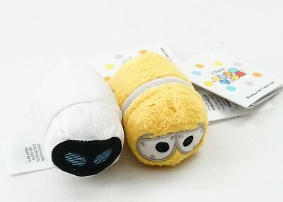 NEW Authentic US Disney Parks Pixar Wall-E & Eve Set of 2 Tsum Tsum Mini