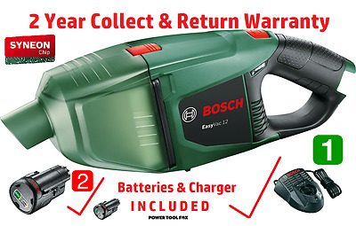 savers - 2 Batteries 1 Charger Bosch EasyVAC 12 VACUUM 06033D0000 3165140850568
