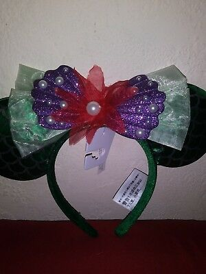 Disney Parks Ariel Little Mermaid Mickey Mouse Ears Headband New with tags