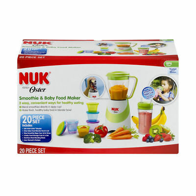 NUK With Oster Smoothie & Baby Food Maker, 20 Piece Set - NEW READ - I25