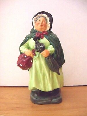 Royal Doulton Figurine DICKENS SAIREY GAMP  7 1/2 INCHES  HN2100    Retired 1967