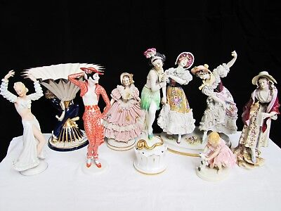 Lot of Antique Collectible Porcelain Figurines. Must See