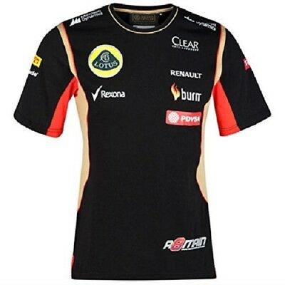 T-SHIRT Adult Formula One 1 Lotus F1 Team NEW! PDVSA Grosjean 2014/5
