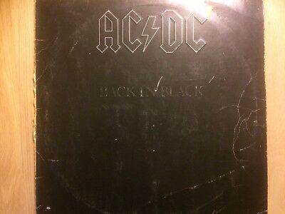 AC/DC ‎– Back In Black, LP Vinyl 12 inch, Hells Bells, Shoot to Thrill, Shake a
