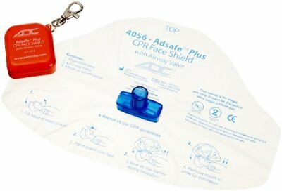Adc Adsafe Plus Cpr Face Shield Keychain W/ 1 Way Valve