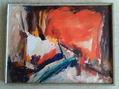 """Preown Original Abstract Art Oil Painting by Artist,24.5""""x19"""""""