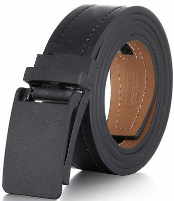 Marino Avenue Genuine Leather Casual Ratchet Belt with Automatic Buckle