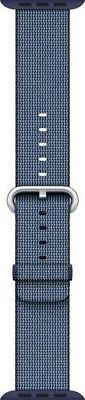 Apple Mpw82Am/a 42Mm Midnight Blue Woven Nylon Stainless Steel Buckle Watch Band
