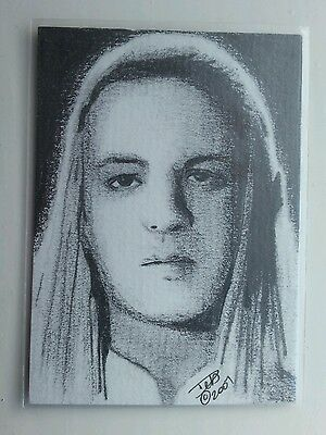 """Lord Of The Rings """"celeborn"""" Pencil Aceo Sketch Card"""