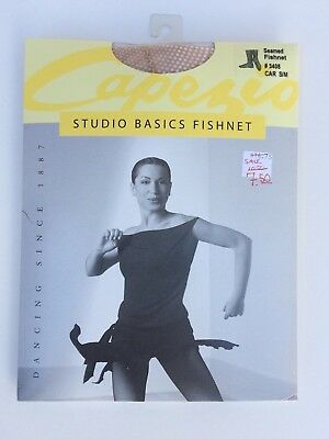 Capezio Seamed Fishnet Tights Style 3408 Adult Caramel  NEW