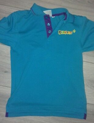 BEAVERS POLO SHIRT NEW STYLE UNIFORM SCOUT OFFICIAL BOYS CLUB KIDS size 26