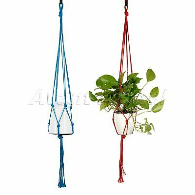 Vintage 2 Pack Plant Hanger Pot Plant Holder Braided Legs Macrame Basket Decor