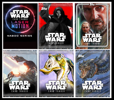 TOPPS STAR WARS CARD TRADER PACK ART DROP 14 - TIER B and TIER C [2 SET 6 CARDS]